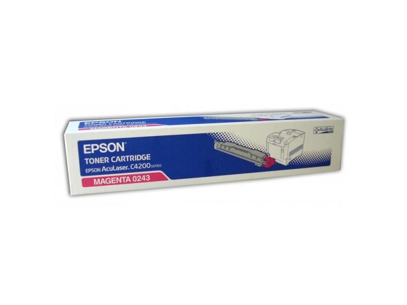 Тонер-Картридж Epson C13S050243 для AcuLaser C4200 пурпурный 8500стр ручки parker 5th s0959010