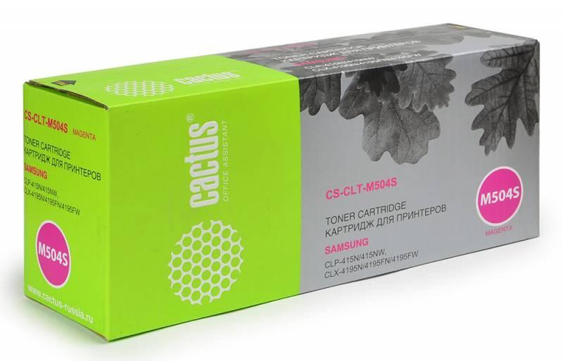 все цены на Картридж Cactus CS-CLT-M504S для Samsung CLP 415N CLX 4195FW 4195FN пурпурный 1800стр