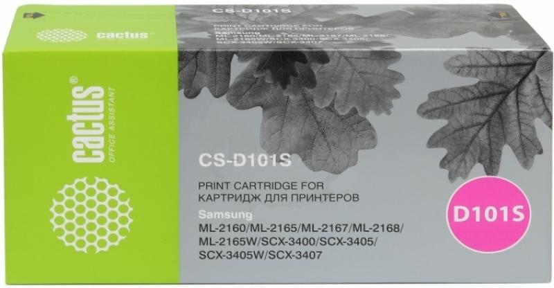 Картридж Cactus CS-D101SD для Samsung ML-2160/2165/2167/2168/2165W/SCX-3400 черный 1500стр