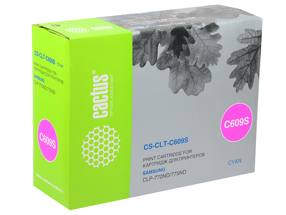 Картридж Cactus CS-CLT-C609S для Samsung CLP 770/770ND/775/775ND голубой 7000стр