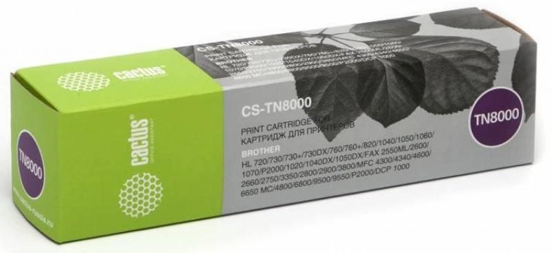 Картридж Cactus TN-8000 для Brother HL-720/730/8201050/1070 черный 2200стр