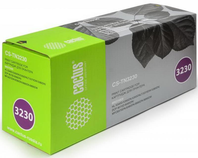 Тонер Картридж Cactus CS-TN3230 черный для Brother HL-5340D/5350DN/5370DW/DCP-8070D/8085DN 3000стр