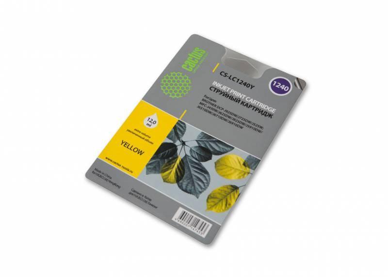все цены на  Картридж струйный Cactus CS-LC1240Y желтый для Brother MFC-J6510/6910DW (12мл)  онлайн
