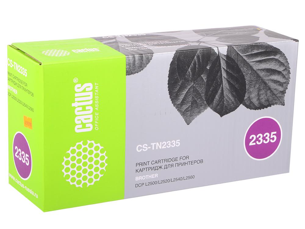 Тонер Картридж Cactus CS-TN2335 черный для Brother DCP L2500/L2520/L2540/L2560 (1200стр.)