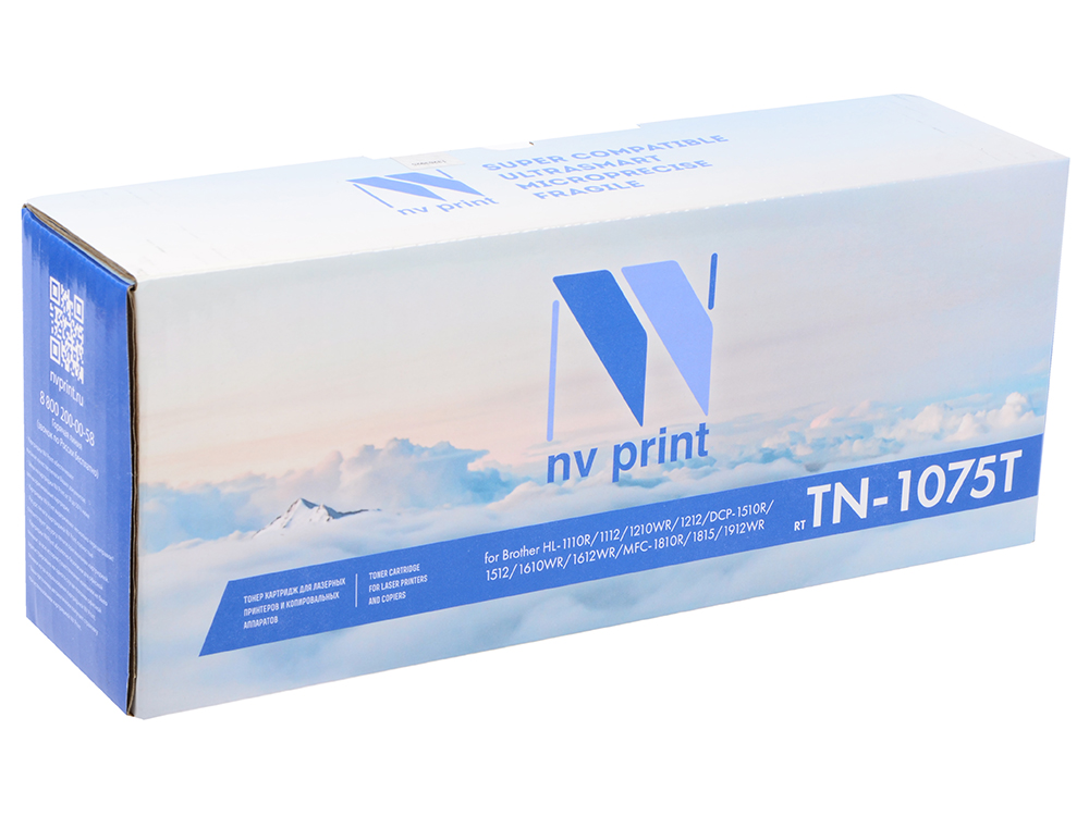 Картридж NV-Print совместимый Brother TN-1075 для HL-1010R 1112R DCP-1510R 1512 MFC-1810R 1815 1000стр картридж nv print для brother dcp 1510r tn 1075t dcp 1512r dcp 1612wr hl 1210wr