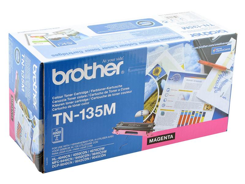 Картридж Brother TN-135M пурпурный 4000 стр brother tn 245m red