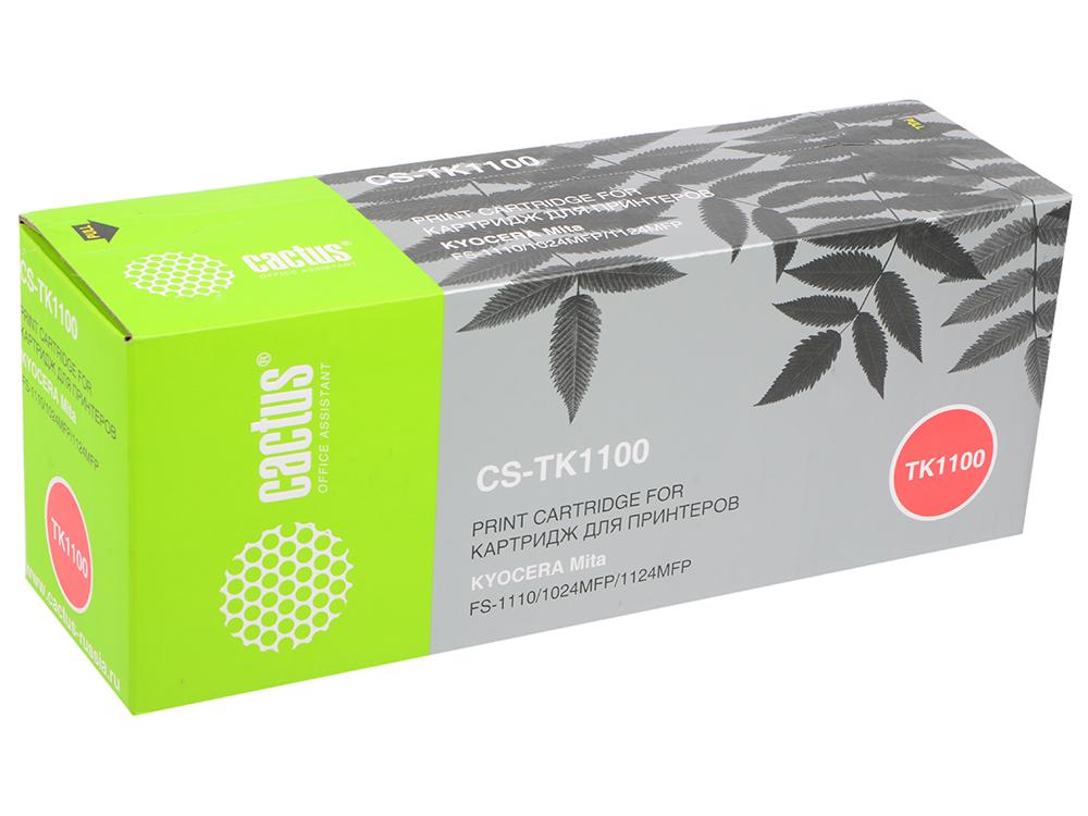 Картридж Cactus CS-TK1100 для Kyocera Mita FS-1110/1024MFP/1124MFP черный 2100стр картридж colouring cg tk 1110 для fs 1040 1020mfp 1120mfp 2500стр