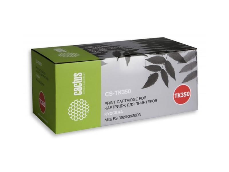 Картридж Cactus CS-TK350 для Kyocera Mita FS 3920 черный 15000стр картридж cactus cs tk65 для kyocera mita fs 3820 3830 черный 20000стр