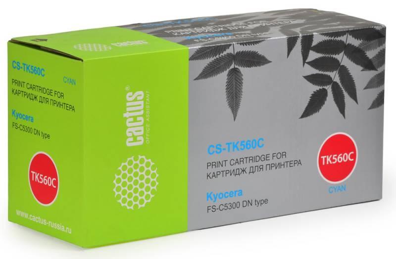 Картридж Cactus CS-TK560С для Kyocera FS-C5300 DN type голубой 10000стр refill copier color toner powder kits for kyocera tk 560 tk 560 tk560 fs c5300 fs c5350dn fs 5300 fs c5300 c5350dn 5300 printer