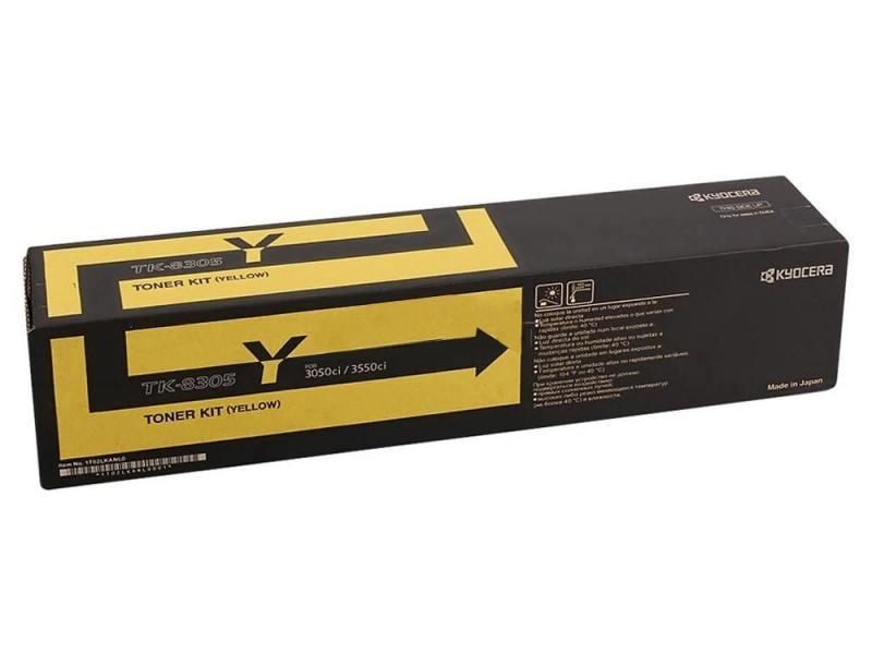 Картридж kyocera tk-8305y для taskalfa 3050ci/3550ci желтый 15000стр