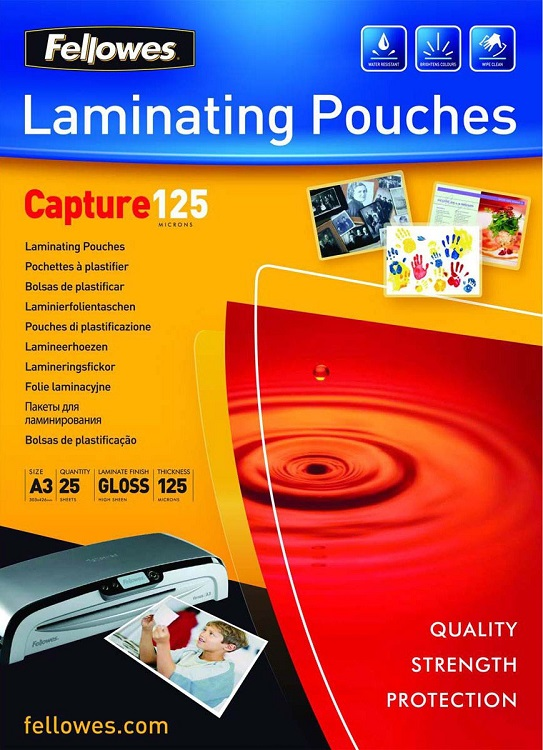 Пленка для ламинирования Fellowes FS-53965 A3 125мкм 25шт fellowes lunar a3 ламинатор