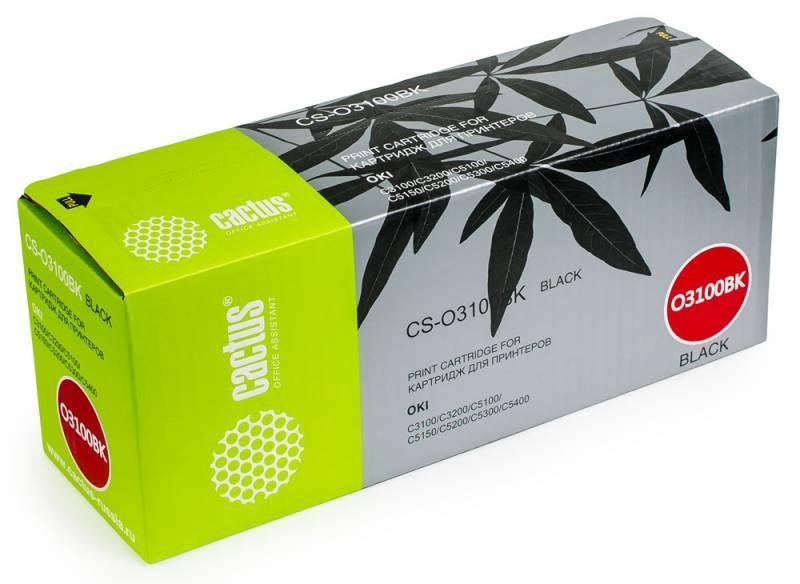Картридж Cactus CS-O3100BK для OKI C5100/C5150/C5200/C5300/C5400 черный 5000стр картридж nv print 42127406 magenta для oki c5100 5200 5300 5400 5000k