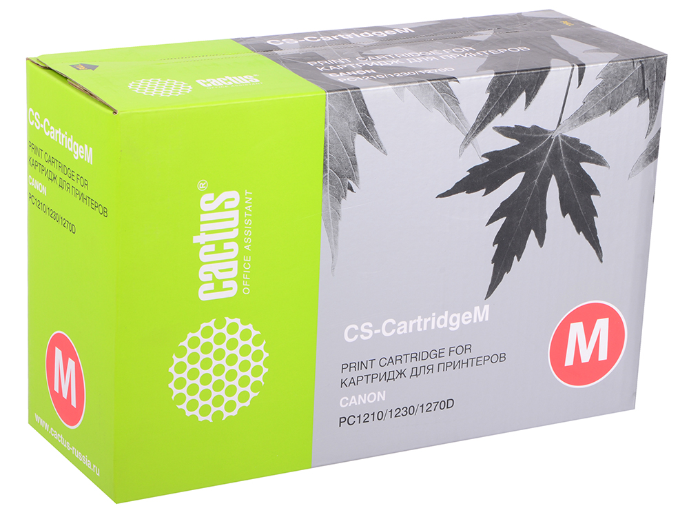 Картридж CACTUS CS-Cartridge M для Canon PC1210 1230 1270D чёрный 5000стр картридж canon m cartridge для pc1210 1230 1270d чёрный 5000 страниц