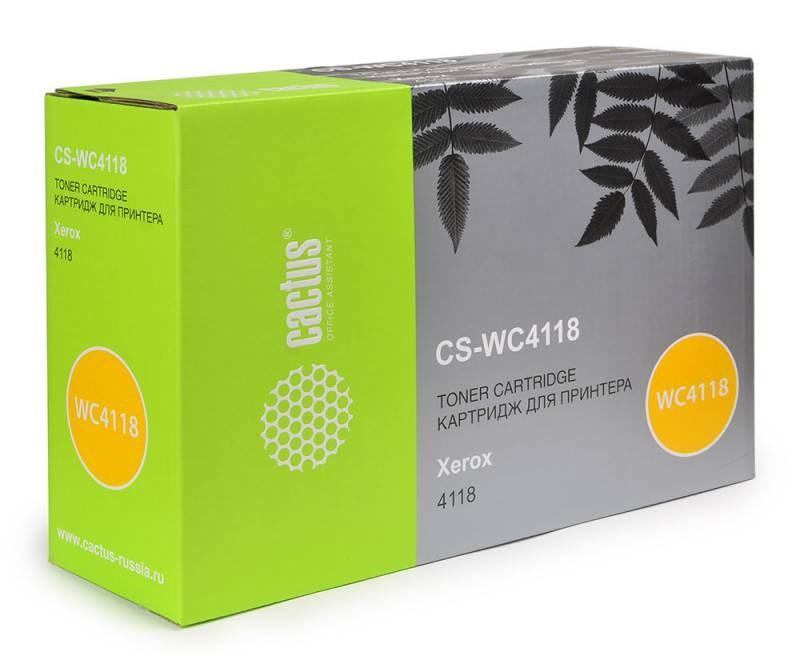 Картридж Cactus CS-WC4118 для Xerox WorkCentre 4118 4118p 4118x 4118xn черный 8000стр картридж xerox 106r01048 для xerox workcentre m20 m20i черный 8000стр