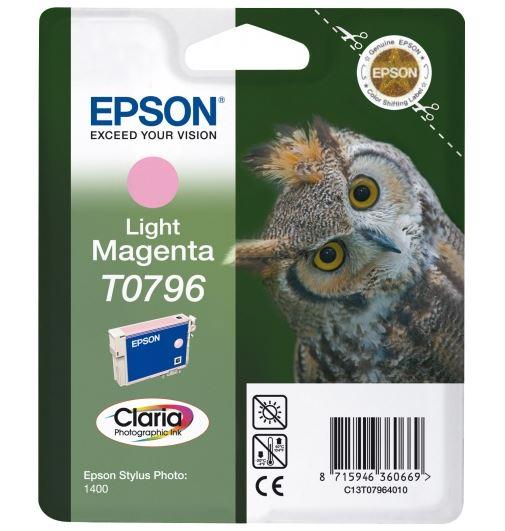 Картридж Epson C13T07964010 светло-пурпурный (light magenta) для Epson Stylus Photo 1500W/P50/PX660/PX720WD/PX730WD/PX820FWD/PX830FWD
