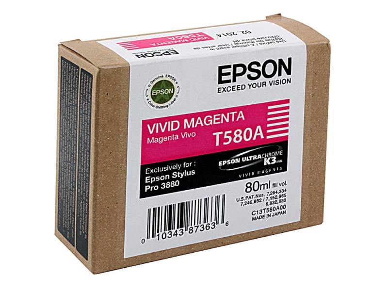 Картридж Epson C13T580A00 для Epson Stylus Pro 3880 Vivid Magenta 110v eps 114 c635 psb for epson stylus 3800 3880 r3800 r3880 power supply board