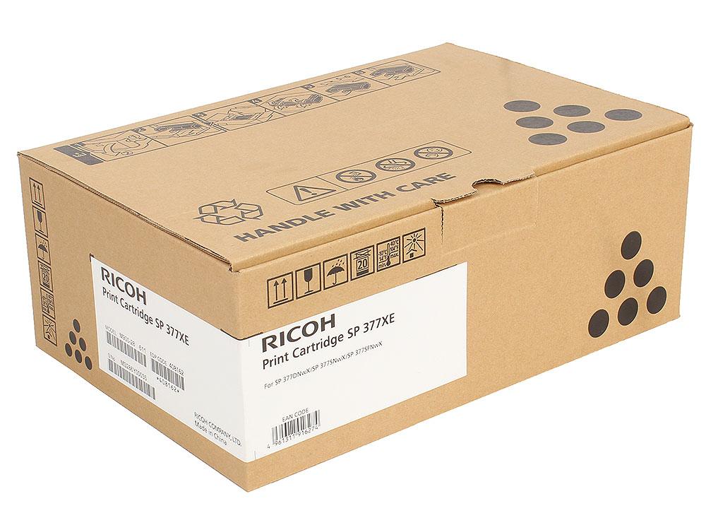 Фото - Принт-картридж Ricoh SP 377XE для SP377DNwX/SP377SFNwX. Чёрный. 6400 страниц. принт картридж ricoh sp 201he для sp211su sp213sfnw sp220nw sp220snw sp220sfnw чёрный 2600 страниц