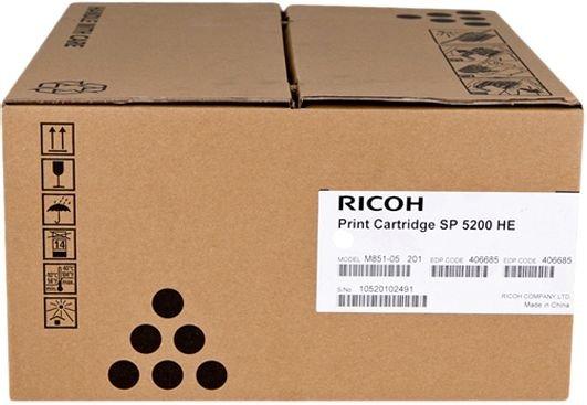 Тонер-картридж Ricoh SP 5200HE для SP5200S/SP5210SF/SP5210SR/SP5200DN/SP5210DN. Чёрный. 25 000 страниц. sp 325dnw