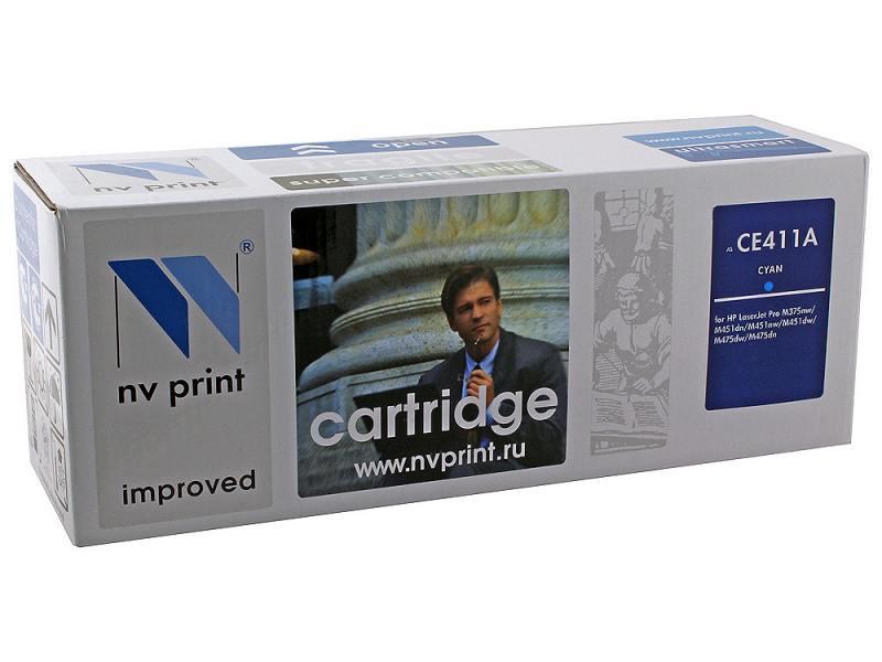 Картридж NV-Print CE411A голубой (cyan) 2800 стр. для HP LaserJet Color M351/375/451/475 / CP2025 / MFP-CM2320 nv print cf303a magenta тонер картридж для hp laserjet enterprise flow mfp m880z m880z plus m880z plus nfc