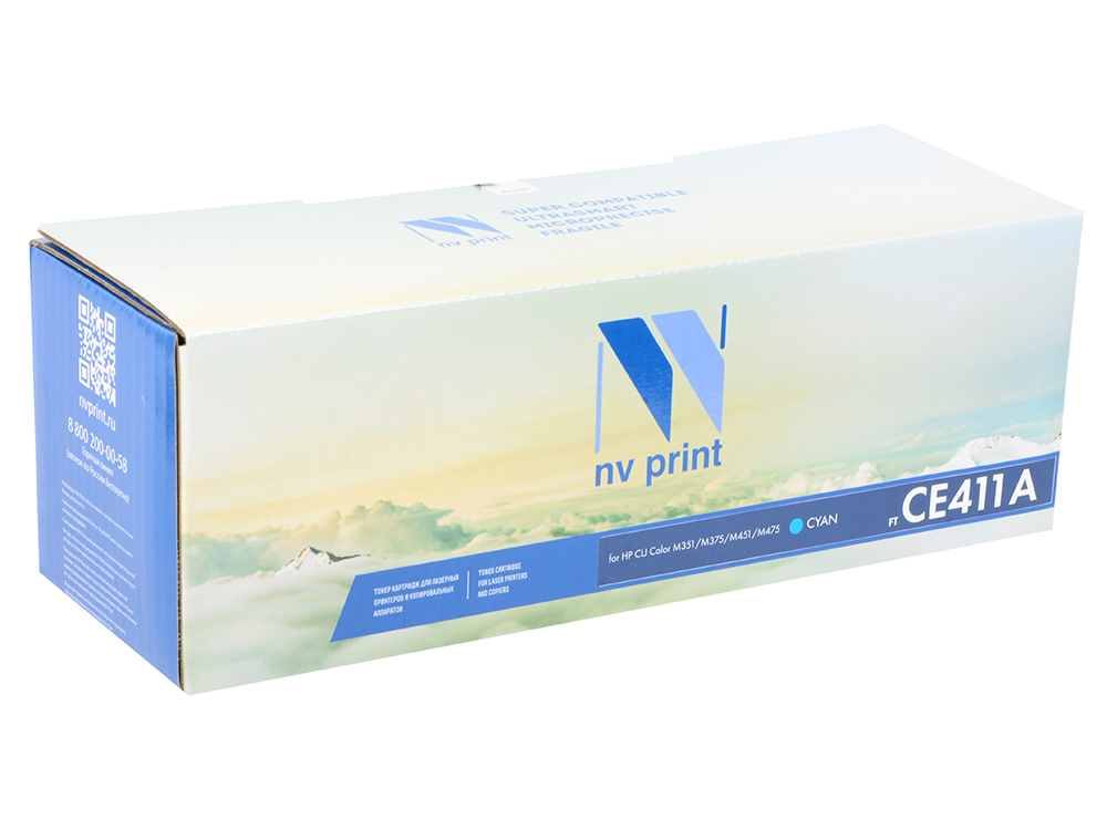 Картридж NV-Print CE411A голубой (cyan) 2800 стр. для HP LaserJet Color M351/375/451/475 / CP2025 / MFP-CM2320 купить в Москве 2019