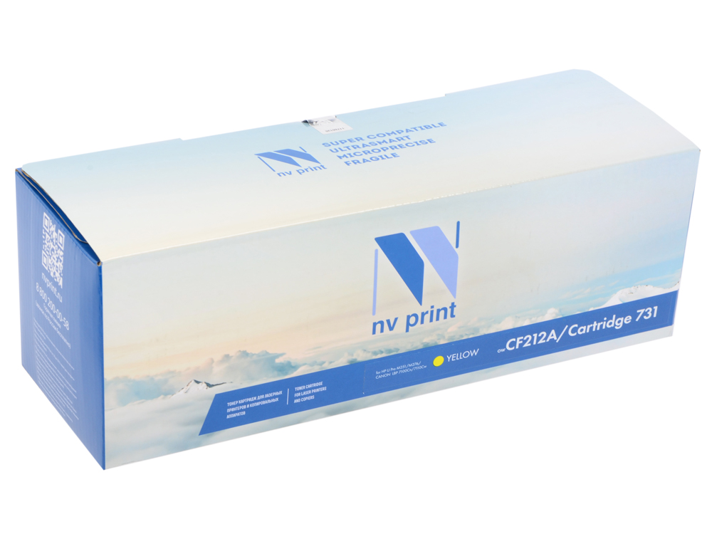 Картридж NV-Print CF212A желтый (yellow) 1800 стр. для HP LaserJet Color Pro M251/276 / Canon LBP-7100/7110 yellow toner reset chip for hp laserjet q6000a print cartridge