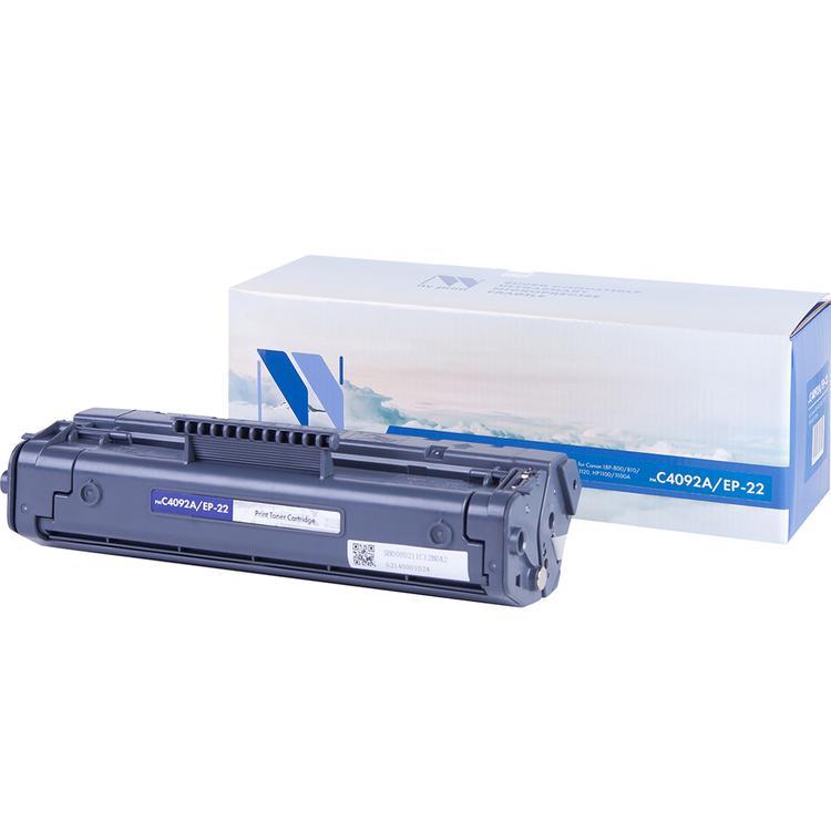 Картридж NVP совместимый HP C4092A/Canon EP-22 для LaserJet 1100/1100a/3200/3220/Canon Laser Shot LBP1120/800/810 (2500k) (NV-C4092A/EP-22) картридж для принтера nv print canon ep 22 black