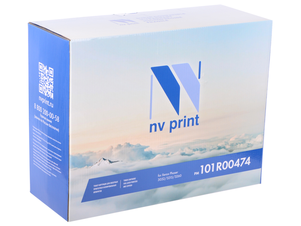 Фотобарабан NV-Print 101R00474 черный (black) 10000 стр. для Xerox Phaser 3052/3260 / WorkCentre 3215/3225 nv print nv 101r00555du black фотобарабан для xerox phaser 3330 workcentre 3335 3345 30000k