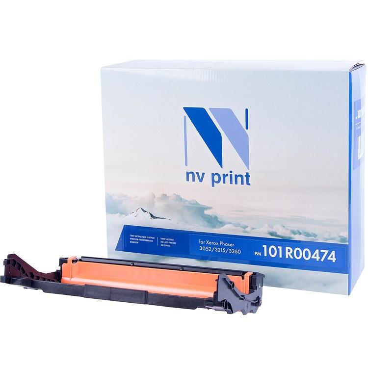 Фотобарабан NV-Print 101R00474 черный (black) 10000 стр. для Xerox Phaser 3052/3260 / WorkCentre 3215/3225 nv print 44574302 black фотобарабан для oki b411 b431 mb461 471 497
