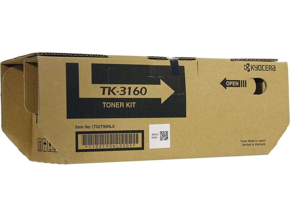 Тонер Kyocera TK-3160 для P3045dn, P3050dn, P3055dn, P3060dn, Чёрный. 12 500 страниц. cata p 3060 inox