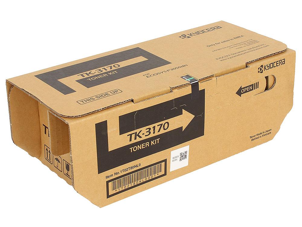 Тонер Kyocera TK-3170 для P3050dn, P3055dn, P3060dn, Чёрный. 15 500 страниц.