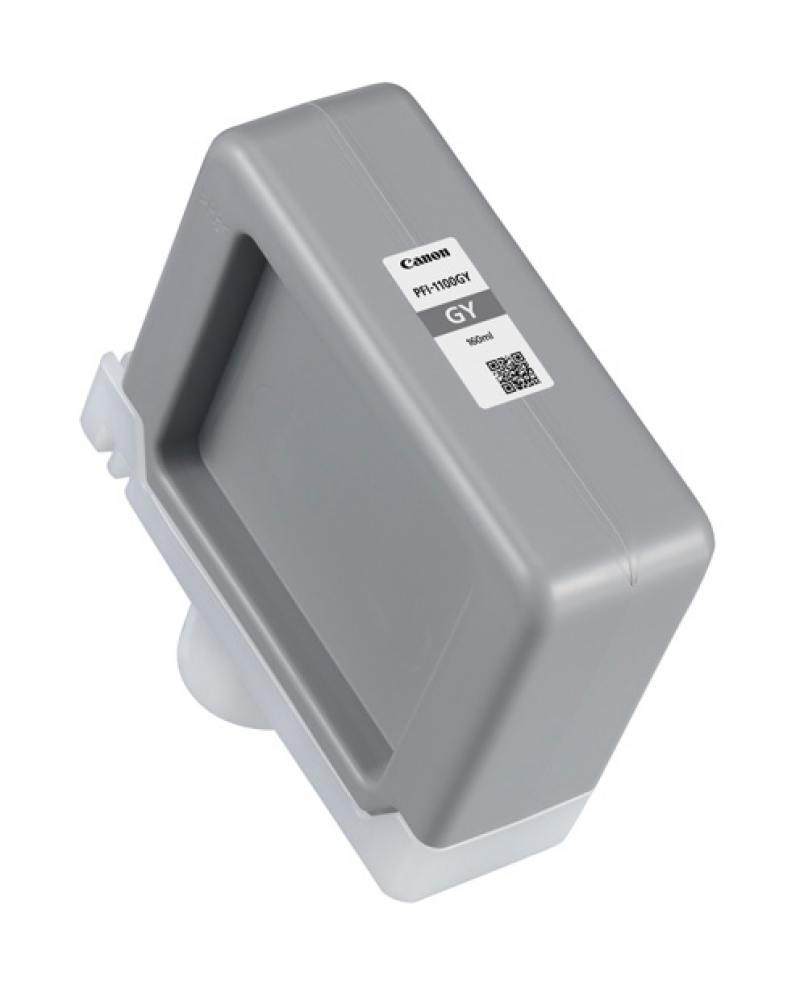 Картридж Canon PFI-1100 GY серый (grey) 160 мл для Canon imagePROGRAF PRO-2000/4000/4000S/6000S pfi 1300 grey