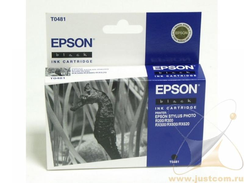 Картридж Epson С13Т04814010 для Epson Stylus Photo R200/R300/RX500/RX600 черный картридж epson t009402 для epson st photo 900 1270 1290 color 2 pack