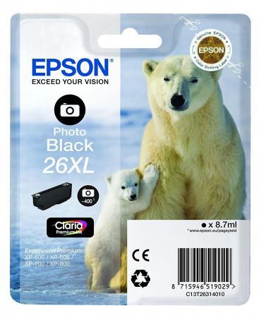 Картридж Epson C13T26314012 черный 400 стр для Epson XP-600/605/700/710/800/820