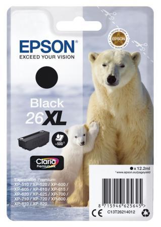 Картридж Epson C13T26214012 для Epson XP-600/605/700/710/800 черный 500стр картридж epson t009402 для epson st photo 900 1270 1290 color 2 pack