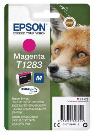Картридж Epson C13T12834012 для Epson S22/SX125 пурпурный принтер струйный epson l312