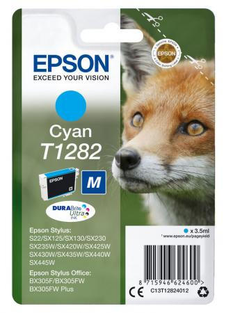 Картридж Epson C13T12824012 для Epson S22/SX125 голубой картридж epson t009402 для epson st photo 900 1270 1290 color 2 pack