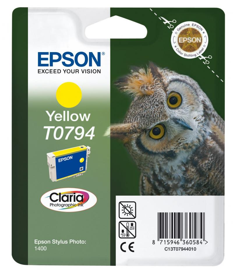 Картридж Epson C13T07944010 для Epson Stylus Photo 1500W желтый принтер струйный epson l312