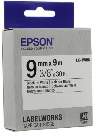 Лента Epson LK-3WBN C53S653003 лента epson lk 4sbm c53s654019