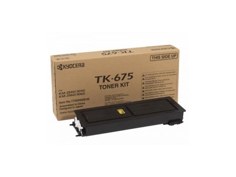 Картридж Kyocera TK-675 для KM 2540 3040 2560 3060 черный 20000стр 2pcs alzenit tk685 for kyocera 2540 2560 3040 3060 300 400 oem new drum count chip black color printer parts on sale