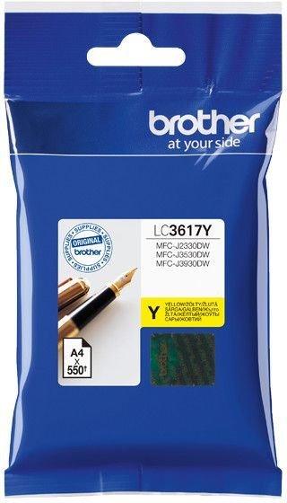 Картридж Brother LC3617Y для Brother MFC-J3530DW/J3930DW желтый 550стр картридж brother lc3617y для brother mfc j3530dw j3930dw желтый 550стр