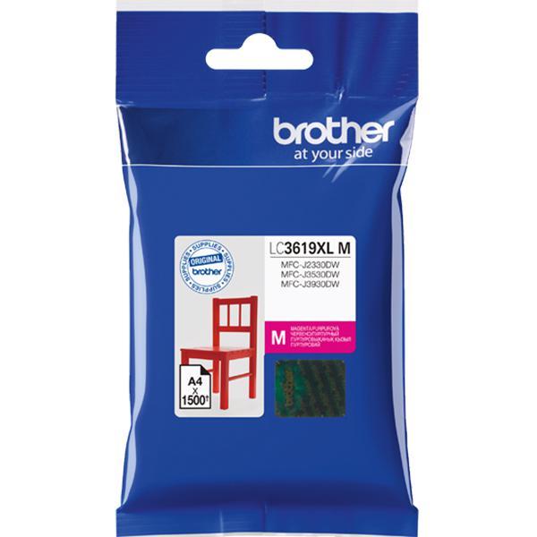 Картридж Brother LC3619XLM для Brother MFC-J3530DW/J3930DW пурпурный 1500стр мфу brother mfc j3530dw