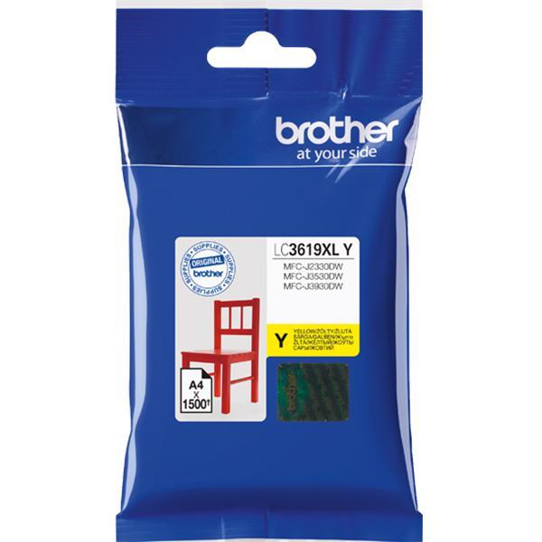Картридж Brother LC3619XLY для Brother MFC-J3530DW/J3930DW желтый 1500стр картридж brother lc3619xly желтый