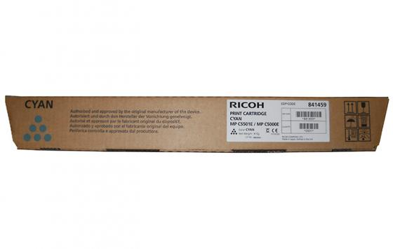 Картридж Ricoh MPC5501E/MPC5000E для Aficio MPC4000/C5000/С4501/С5501 голубой 18000стр 4pcs mpc4000 developer for ricoh mp c2800 c3300 c4000 c5000 copier spare parts