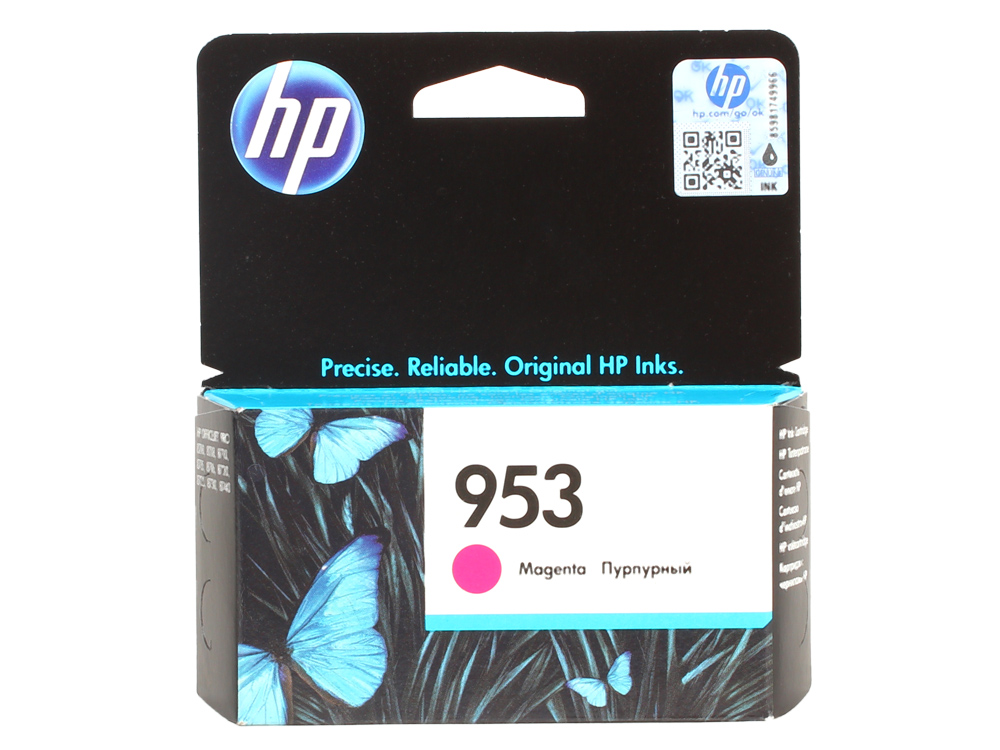 Картридж HP F6U13AE №953 для МФУ HP OfficeJet 8710/8715/8720/8725/8730/7740, принтер 8210/8218. Пурпурный. 700 страниц. картридж hp f6u16ae 953xl для мфу hp officejet 8710 8715 8720 8725 8730 7740 принтер 8210 8218 голубой 1600 страниц