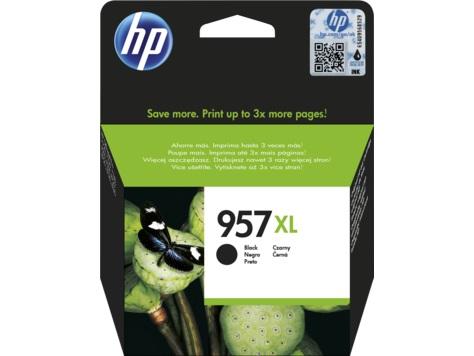 Картридж HP L0R40AE №957XL для МФУ HP OfficeJet 8720/8725/8730/7740, принтер 8210/8218. Чёрный. 3000 страниц. hp officejet pro 8210 принтер струйный d9l63a