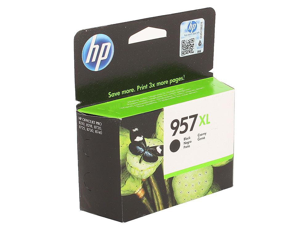 Картридж HP L0R40AE №957XL для МФУ HP OfficeJet 8720/8725/8730/7740, принтер 8210/8218. Чёрный. 3000 страниц. картридж hp 957xl l0r40ae black