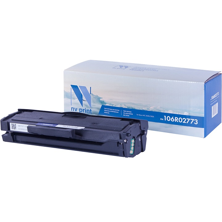 Картридж NV-Print 106R02773 для Xerox Phaser 3020/WorkCentre 3025 черный 1500стр toner cartridge for xerox phaser 3020 workcentre 3025 compatible 106r02773 black toner cartridge for xerox 3020 3025 with chip