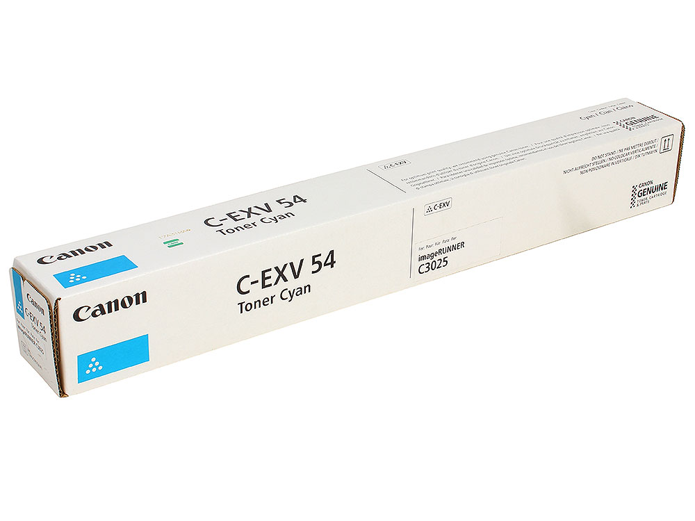 Тонер Canon C-EXV54C для серии imageRUNNER C3025i. Голубой. 8500 страниц. canon imagerunner 2530i