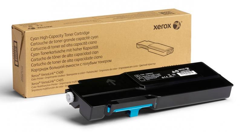 Картридж Xerox 106R03522 для VersaLink C400/C405 голубой 4800стр картридж xerox 106r03534 голубой cyan 8000 стр для xerox versalink c400 405