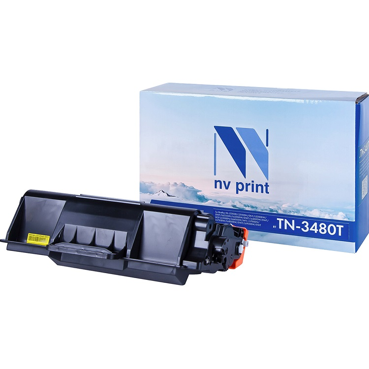 Картридж NV-Print TN-3480T черный (black) 8000 стр. для Brother HL-L5000/5100/5200/6250/6300/6400 / DCP-L5500/6600 / MFC / L5700-5750 refillable color ink jet cartridge for brother printers dcp j125 mfc j265w 100ml